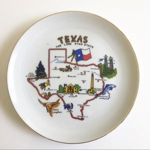 Vintage Texas Hanging Small Plate